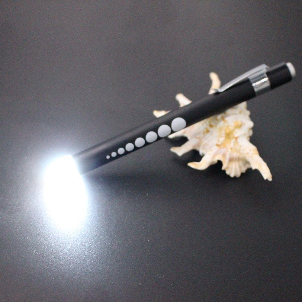 Nouvelle conception LED lumière stylo à bille 2 dans 1 LED lumière stylos En Métal matériel LED light up à bille stylo D'écriture dans l'obscurité