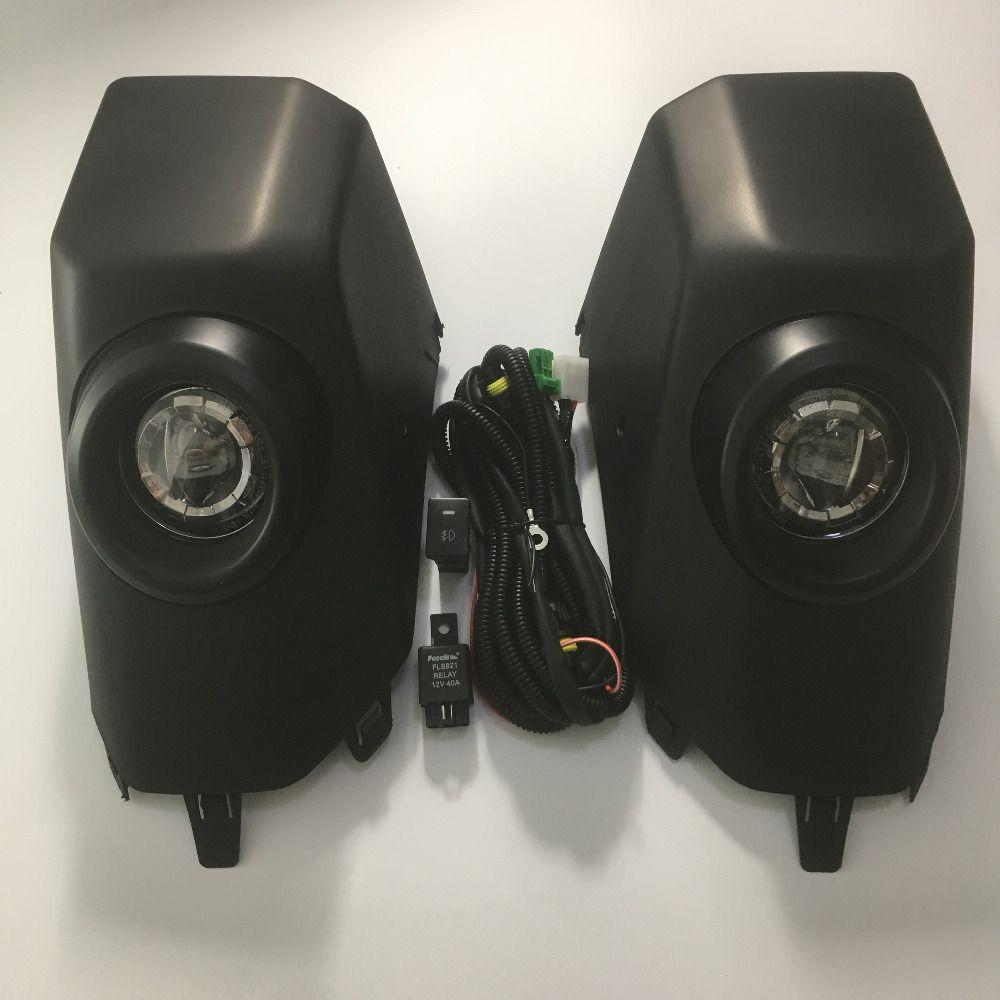 2pcs/set Light Kit For Toyota FJ Cruiser 2007-2017 BLACK Fog Lamp DRL Daytime Running Light Driving Light Kit