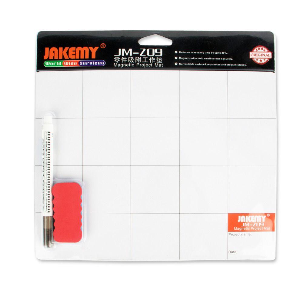 JAKEMY JM-Z09 magnétique projet tapis vis travail Pad avec marqueur stylo gomme pour téléphone portable ordinateur portable tablette iPhone réparation outils tapis