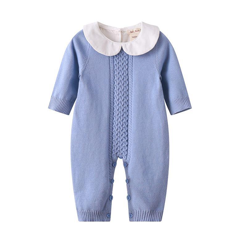 Auro Mesa Newborn Baby Knitted Jumper bebe clothing Autumn Winter Jumpsuit 2018 baby onesie Baby Knit Romper