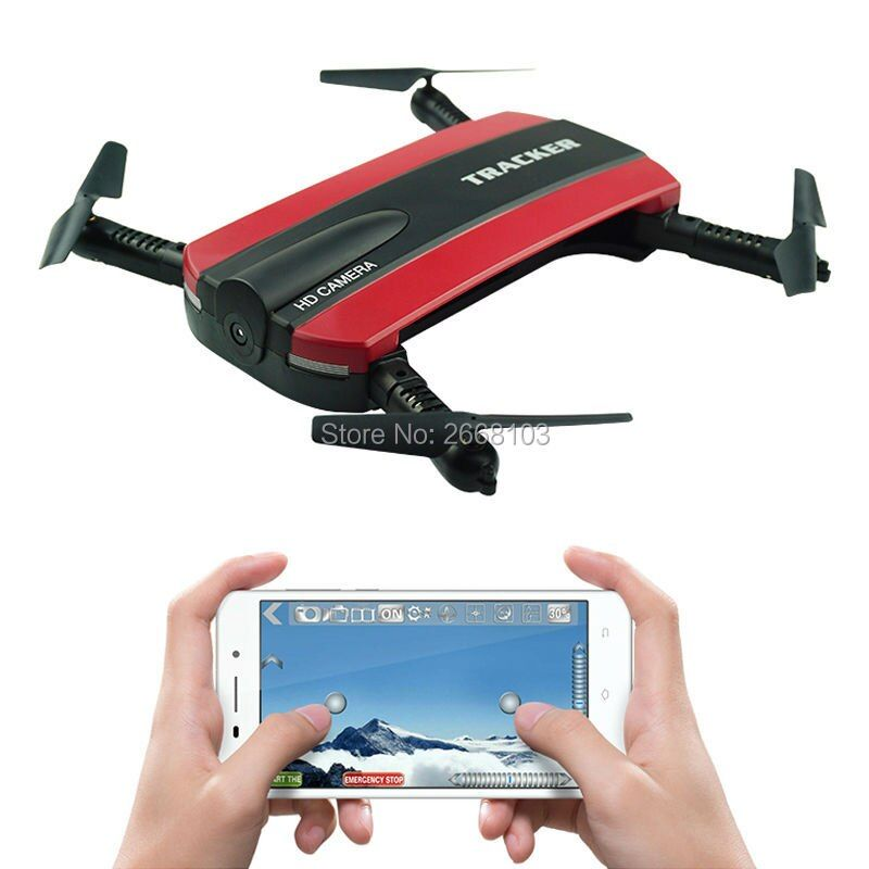 JXD 523 Tracker Selfie Pocket Drone Altitude Hold Foldable JXD523 Mini RC Quadcopter WIFI FPV Camera Helicopter Headless VS H37