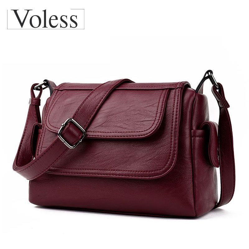 Fashion Woman Bag Leather <font><b>Crossbody</b></font> Bags For Women Messenger Bags Female Shoulder Handbag <font><b>Crossbody</b></font> Bags For Women Sac Femme