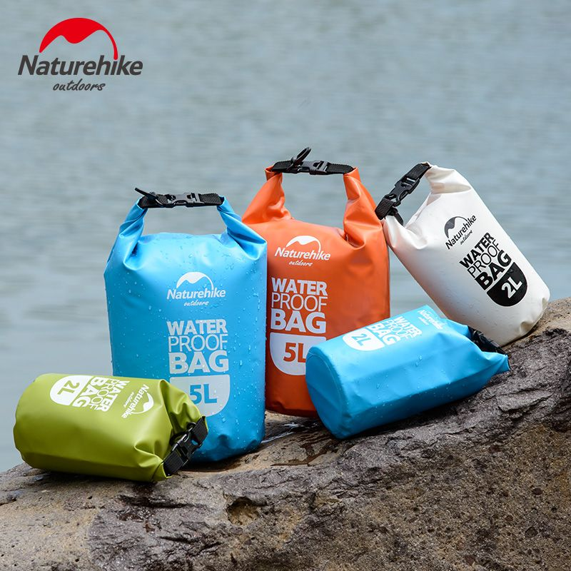 NatureHike 2L 5L High Quality Outdoor Waterproof Bags Ultralight Camping Hiking Dry Organizers Drifting <font><b>Kayaking</b></font> sac etanche
