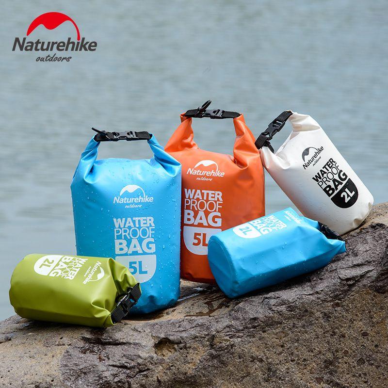 NatureHike 2L 5L Hohe Qualität Im Freien Wasserdichte Taschen Ultralight Camping Wandern Trockenen Organisatoren Treiben Kajak Schwimmen Taschen