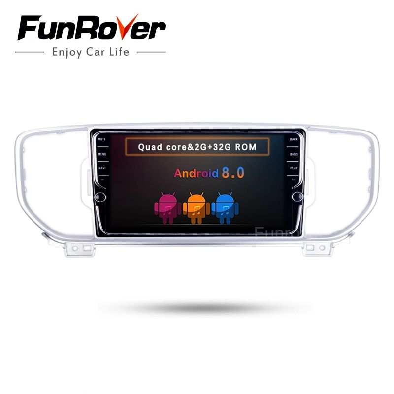 Funrover IPS Android 8.0 Auto Stereo DVD multidia Player fit KIA Sportage kx5 2016 2017 lenkrad control band recorder WIFI
