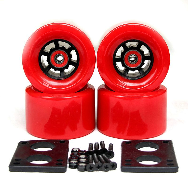 82A Skateboard Wheels 83*52mm Long Board City Run 87*52mm Wheels 6mm Riserpad <font><b>35mm</b></font> Bolts ABEC-9 Bearing Big Longboard Wheels