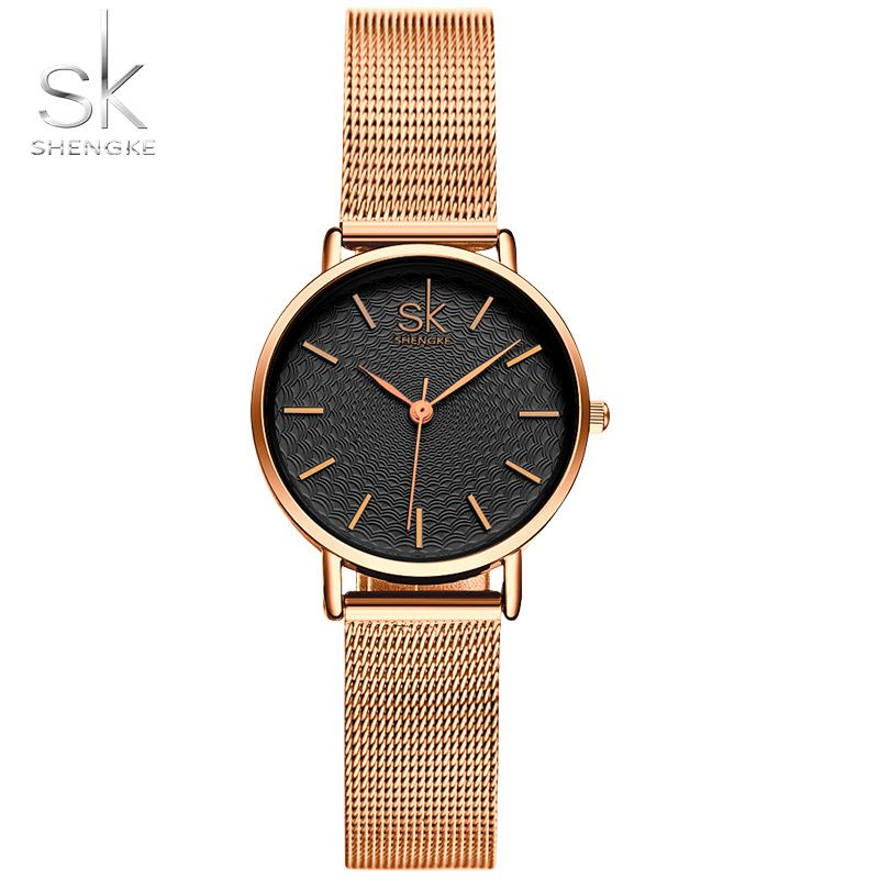 SK New Fashion Brand Women <font><b>Golden</b></font> Wrist Watches MILAN Street Snap Luxury Female Jewelry Quartz Clock Ladies Wristwatch 2017