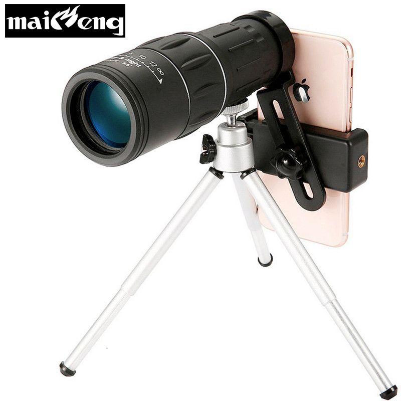 Professionelle 10X42 HD Nachtsichtgerät High power Teleskop Tragbare für Camping Vogel-beobachten mit Smartphone halter und stativ