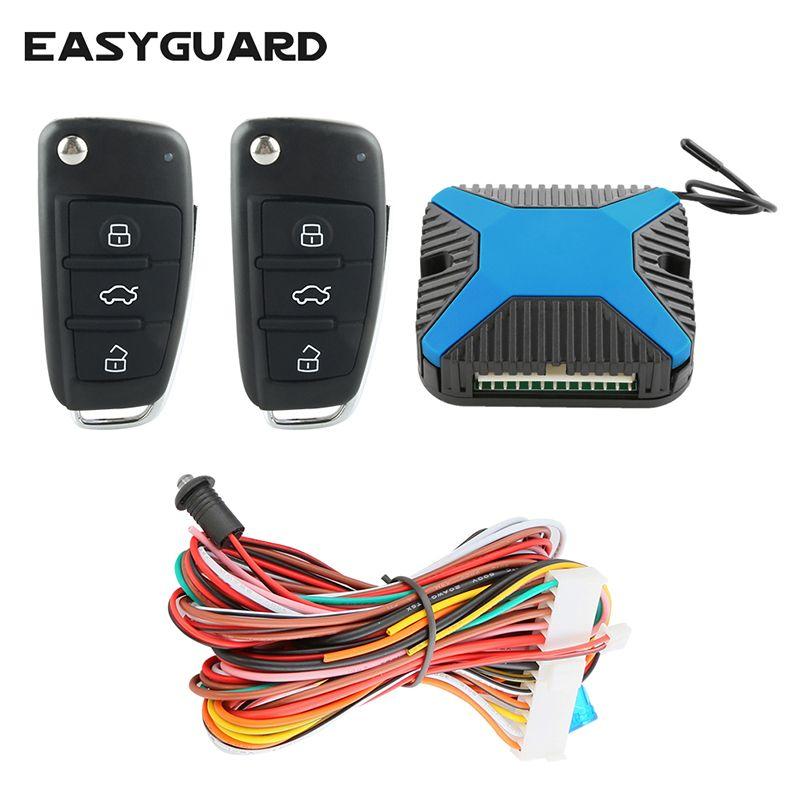 EASYGUARD version universelle système d'entrée sans clé de voiture verrouillage central à distance de la porte DC12V déverrouillage à distance du coffre sortie de la fenêtre d'alimentation