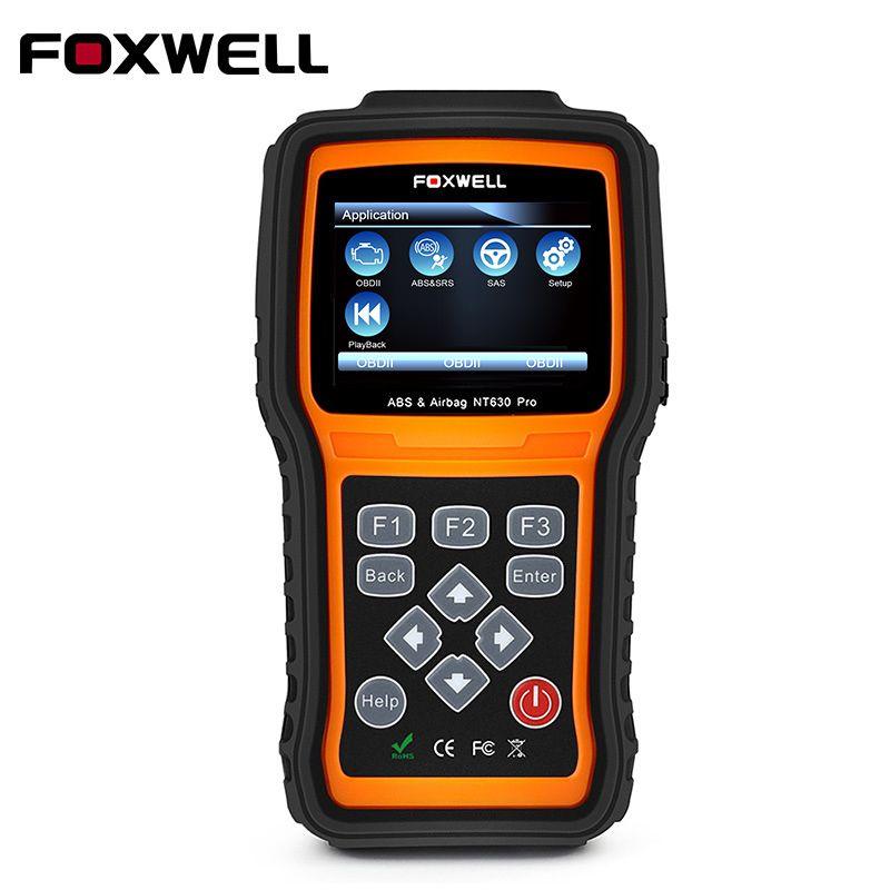 FOXWELL NT630 Pro OBD2 Car Diagnostic Tool Engine ABS SAS Airbag SRS Crash Data Reset Automotive OBDII OBD 2 Auto Scan Tools