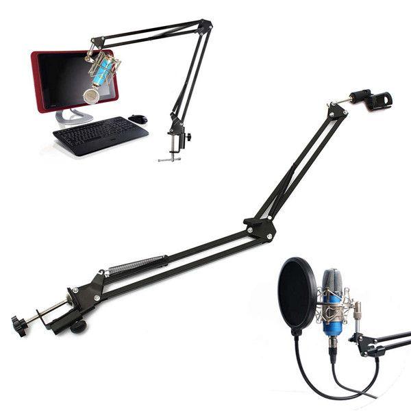 Pro Подставки для микрофона микрофон ножницами руку подвеска стрелы Крепление амортизатора держатель Studio Sound вещания