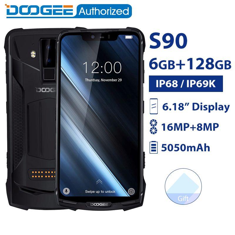 DOOGEE S90 IP68/IP69K wasserdichte Handy Android 8.1 6,18 ''5050 mAh Helio P60 Octa Core 6GB 128GB 16,0 M Robuste Smartphone