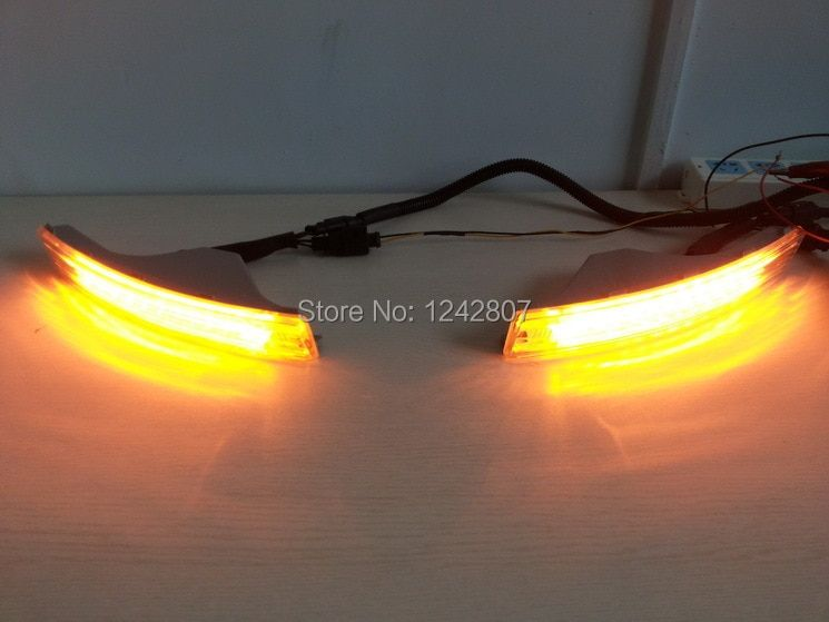 VW Passat B6 led drl daytime running light, auto dim or OFF control + turn light + on/off switch super bright, Original design