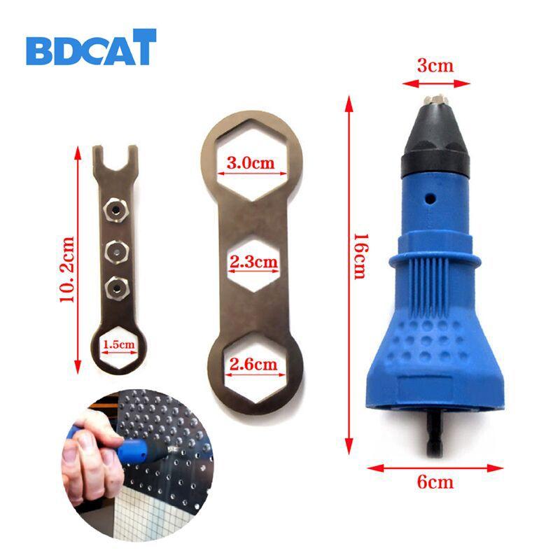 Rivet électrique écrou pistolet rivetage outil adaptateur sans fil Insert écrou outil Rivet perceuse Machine