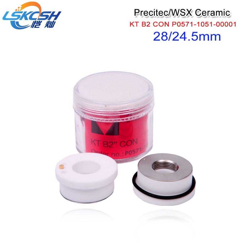 LSKCSH 5 teile/los Precitec Keramik Teile Düse Halter china hergestellt P0571-1051-00001 Für Precitec Laser Schneiden Kopf 28mm/24,5mm