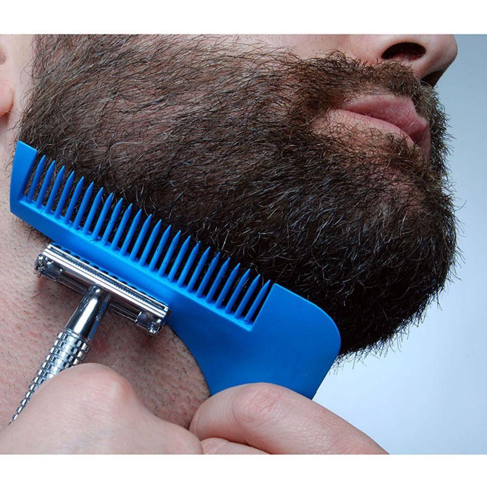 Dropshipping Gentleman Hair Trimmer Beard Bro Comb Beard Shaping Styling Template Carding Tools Sexy man Gentleman