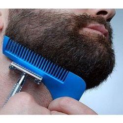 Dropshipping Gentleman Hair Trimmer Beard Bro Comb Beard Shaping Styling Template Carding Tools Sexy man Gentleman