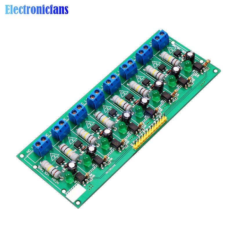 AC 220 V 8 Kanal MCU Ttl-pegel 8 Ch Optokoppler Isolation Test Board Isoliert Erkennung Tester Modul PLC Prozessoren
