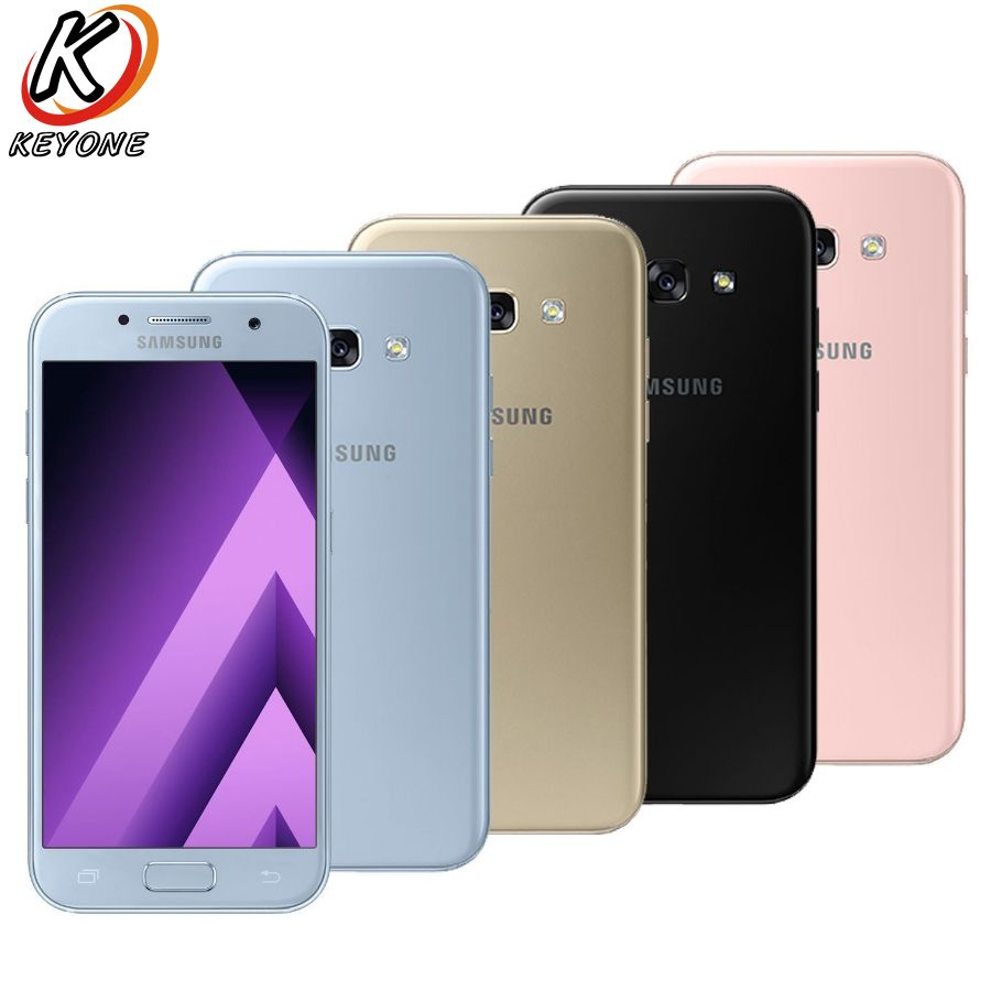 Brand New Samsung Galaxy A7 2017 A720F-DS 4G LTE Mobile Phone 3GB RAM 32GB ROM 5.7 Octa Core 1.9GHz 3600 mAh Android Cellphone