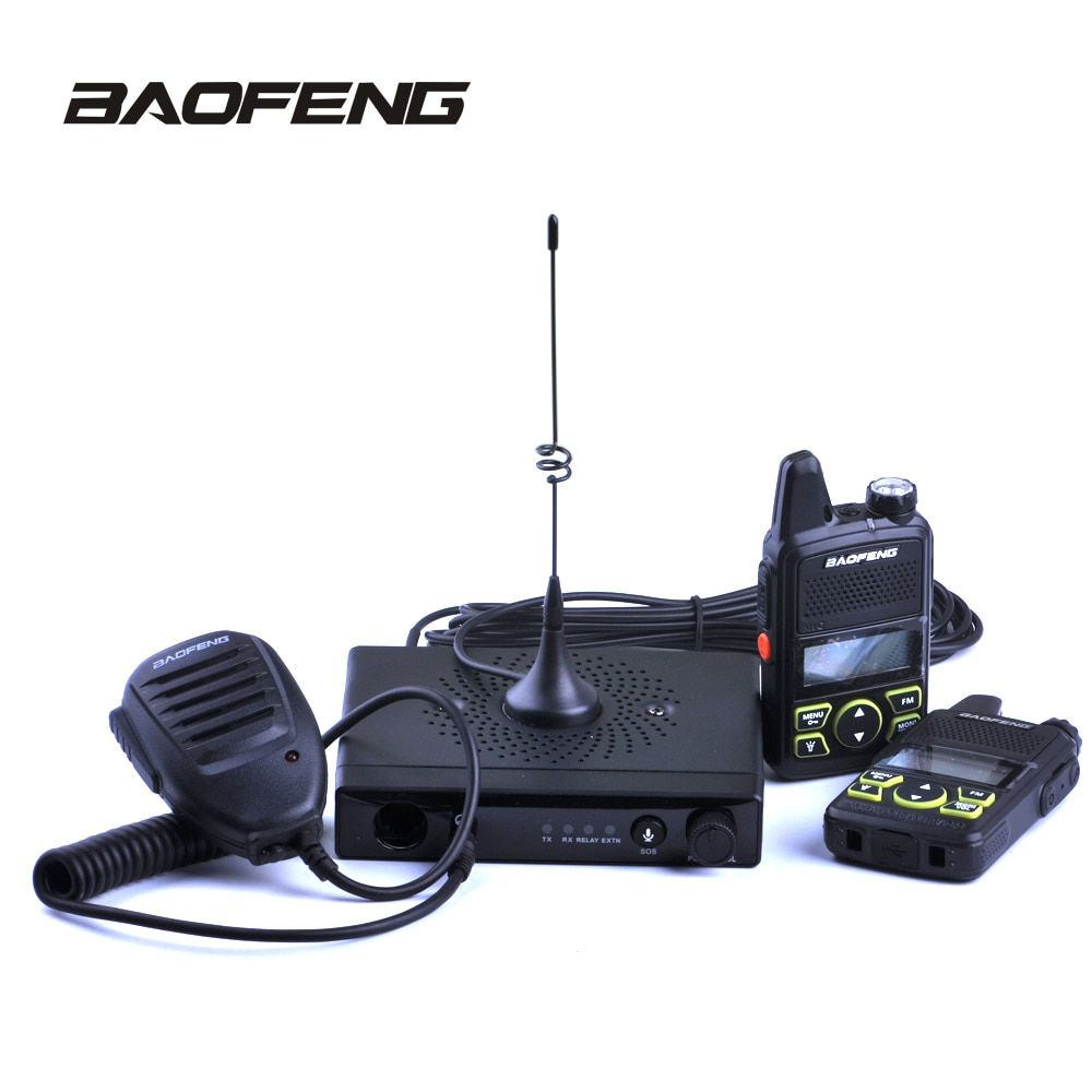 Baofeng Mini Car Radio Mini Car Walkie Talike 15W UHF 400-420MHz 20CH with T1 Mobile Radio station for Car Outdoor Hunting Radio