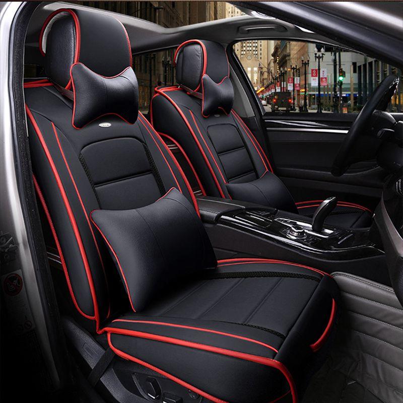 (Avant + arrière) housses de siège de voiture en cuir spécial pour Hyundai solaris ix35 i30 ix25 Elantra accent tucson Sonata accessoires auto