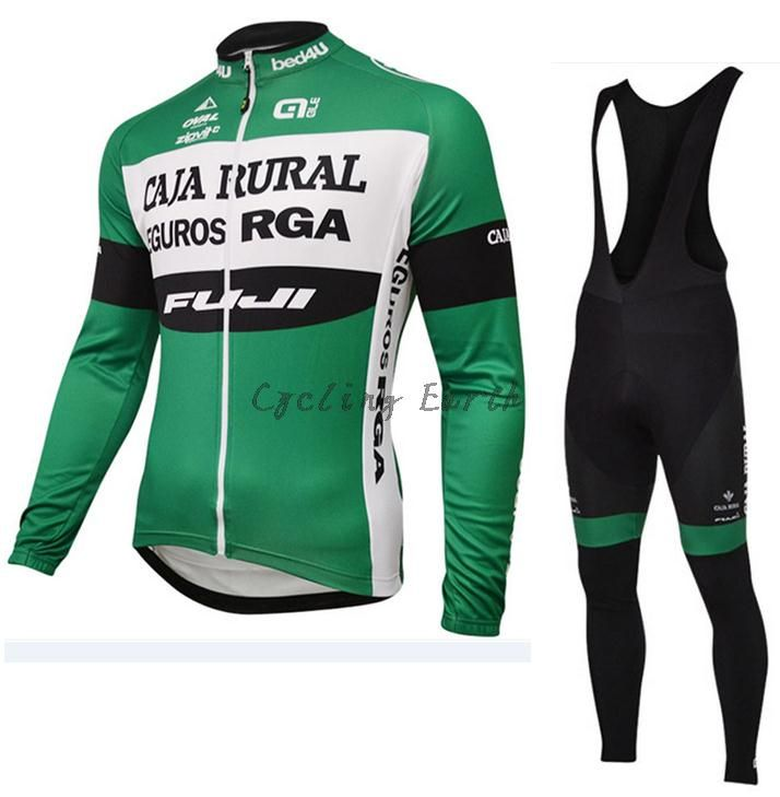 ALE CAJA RURAL 2016 long sleeve autumn cycling clothes cycle cycling jersey bib pants bicycle kit ropa maillot ciclismo