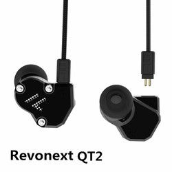 Revonext QT2 2DD + 1BA Hybrid Di Telinga Earphone HiFi DJ Monito Olahraga Lari Earphone Earplug Headset Earbud