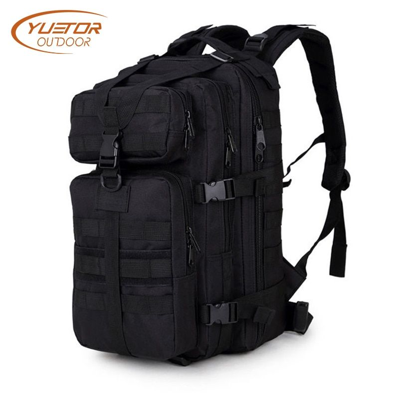 YUETOR OUTDOOR 35L 3P Military Tactical Backpack Molle Army Assualt <font><b>Pack</b></font> Waterproof Tactical Bag for Hiking Camping Hunting
