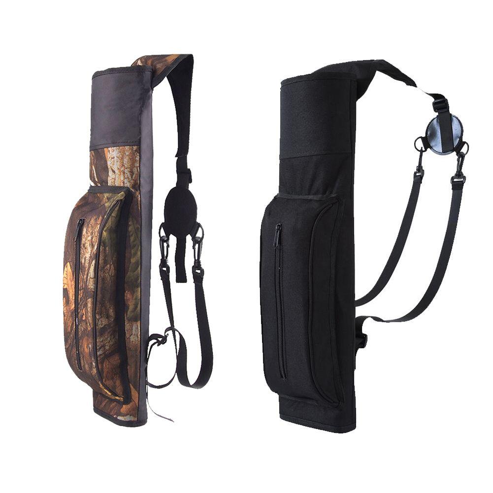 Large Capacity Outdoor Hunting Back Arrow Quiver Archery Bow Arrow Holder Belt Bag Arrows Bow Quiver Single/Shoulder Arrow Bag