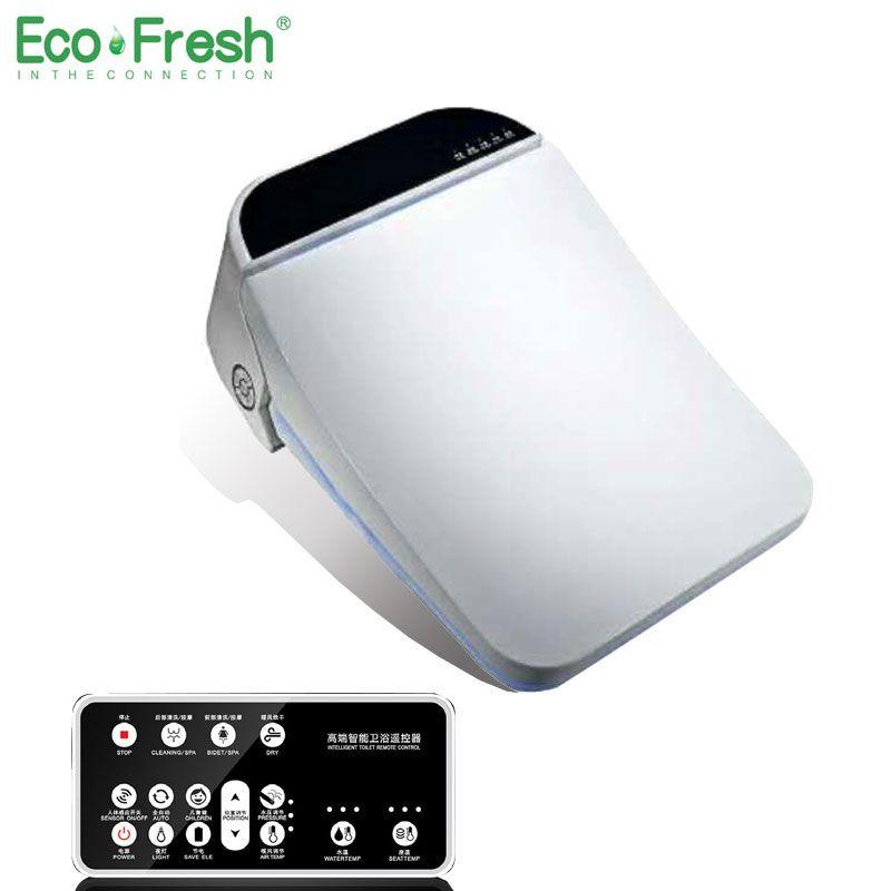 Ecofresh Platz smart wc sitz dusch-wc Elektrische bidet abdeckung intelligente bidet wärme saubere trocknen Massage Pflege