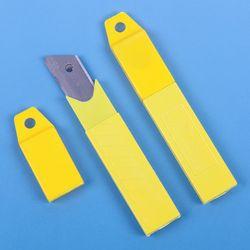 10 PCS/lot Bureau Fournitures Cutter Lame Avec Art Étudiant Papeterie 100mm x 18mm Argent Couteau Durable 0.6mm Lame