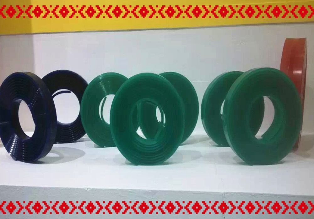 Free shipping !!! Green 50mm*9mm*4000mm!!! Screen Printing Flat Squeegee Rubber Blade_75A Durometer
