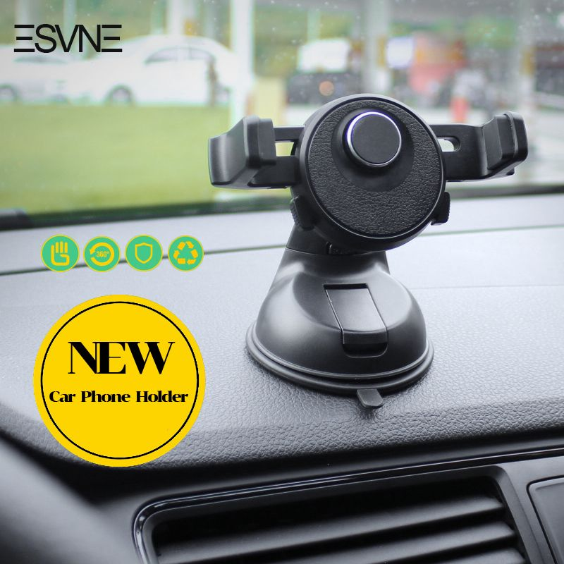 ESVNE Universal Car Phone Holder for iPhone 6 7 GPS Mobile Phone Car Holder Stand Windshield Mount support cellular phone
