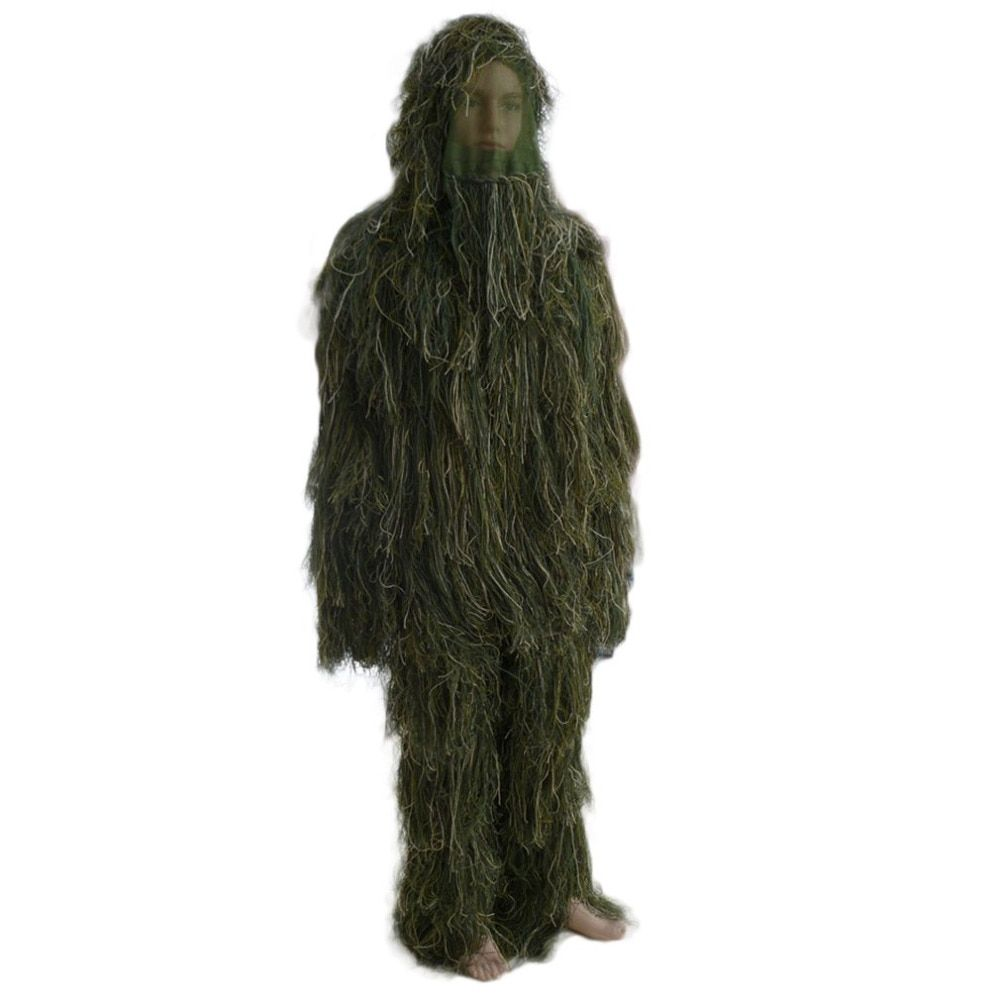 (Ship From Russia)3D Universal Camouflage Suits Woodland Clothes Adjustable Size Ghillie Suit For Hunting Army Military Tactical