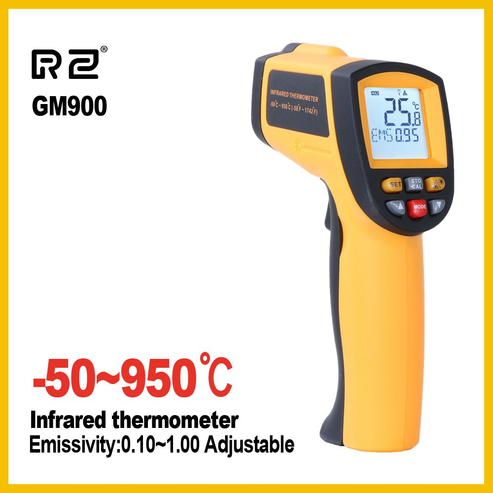 RZ Ir Infrared thermometer thermal imager handheld digital electronic car temperature non-contact hygrometer 950 C <font><b>industrial</b></font>