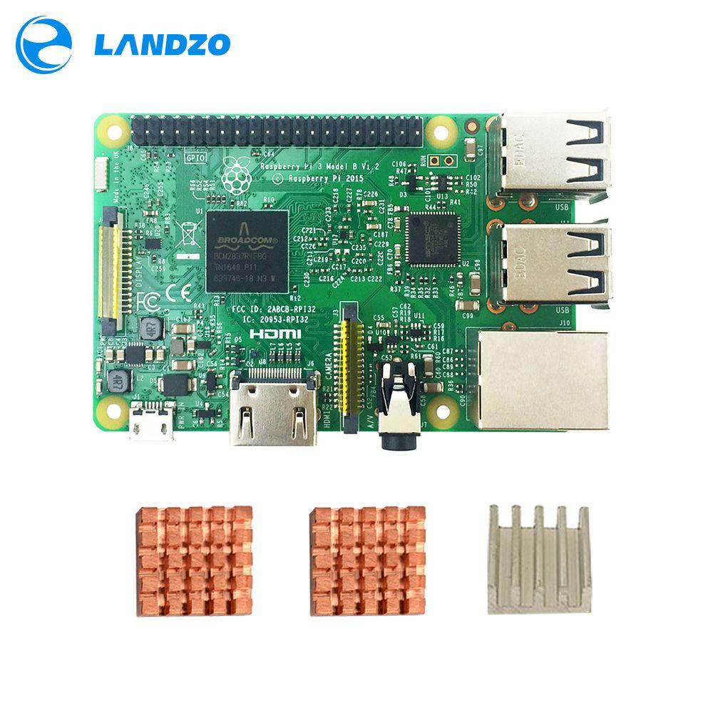 Original raspberry pi 3 modèle b/raspberry pi/framboise/pi3 b/pi 3/pi 3b avec wifi & bluetooth CPU Dissipateur de Chaleur En Aluminium