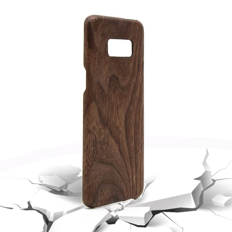 Showkoo Cas de Téléphone En Bois Naturel Pour Samsung S8 Plus S8 original bois + Fiber parfait Intégré Pour Samsung S8 téléphone Cas de couverture