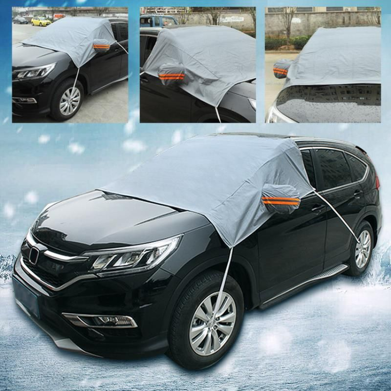 Practical Car SUV Windshield Cover PEVA Cotton Heat Sun Shade Anti Snow Frost Ice Dust Cover Auto Window Mirror Protection