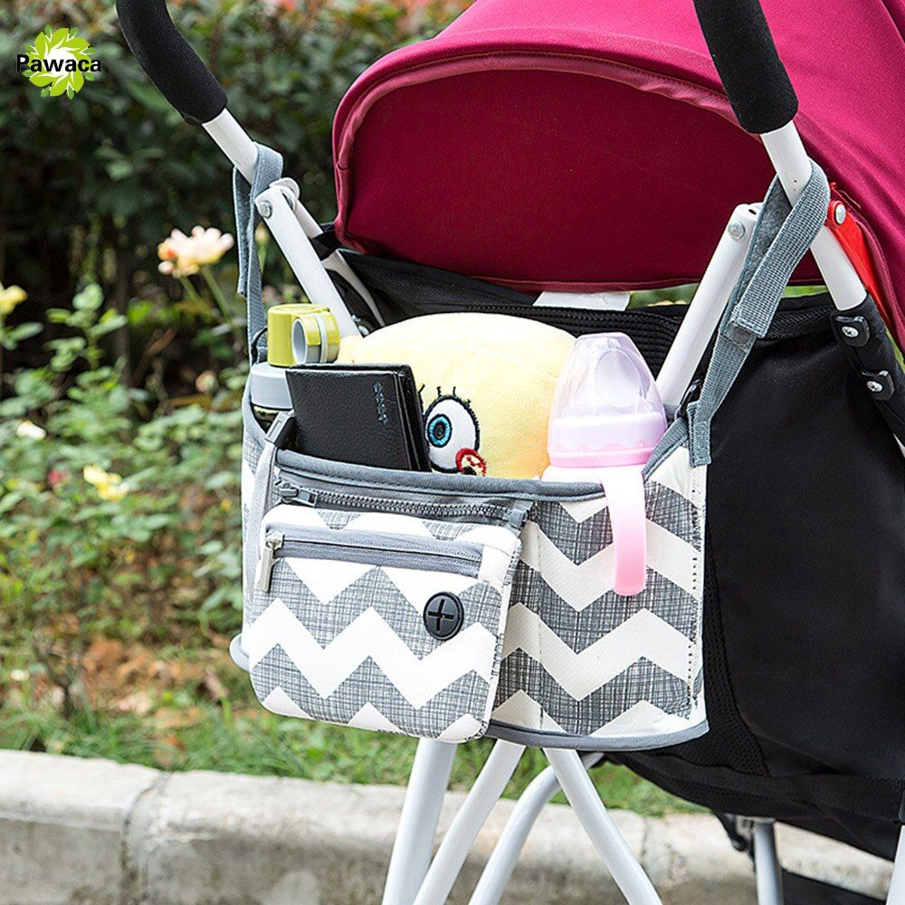 Baby Stroller Bag Nappy Diaper Cup Carriage <font><b>Hanging</b></font> Basket Storage Organizer Bolsa Maternidade Para Bebe Stroller Accessories