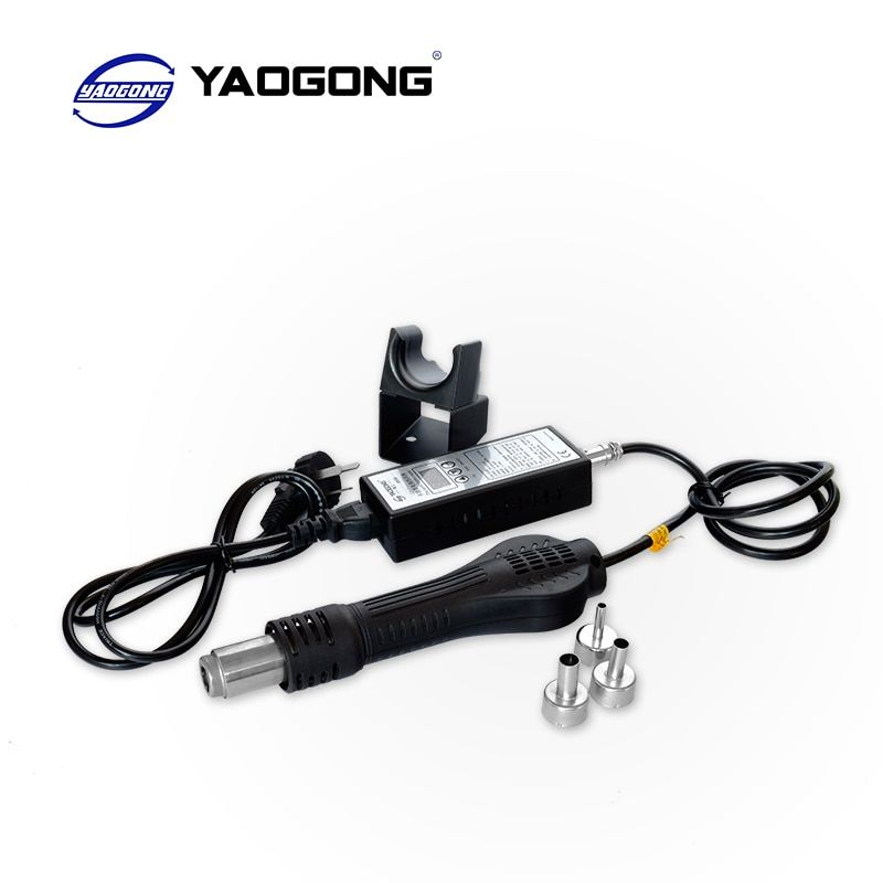 YAOGONG 8858 110V 220V Portable Hot Air Gun BGA Rework Solder Station Hot Air Blower Heat Gun Intelligent detection and cool air