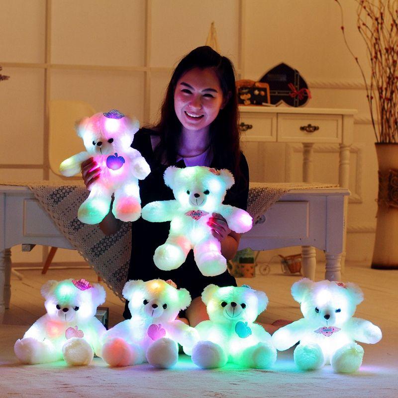 Luz oso almohada confort almohada niño almohada hogar Decoración amortiguador trasero juguetes para niños regalo 40 cm