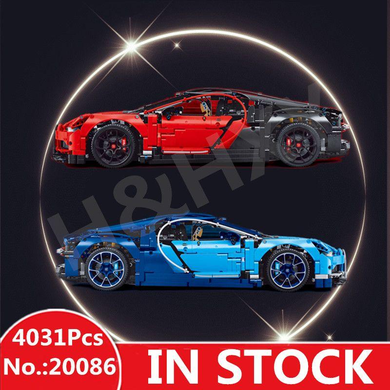 IN STOCK H&HXY 20086 20086B 4031Pcs Technic Series Blue Chiron Racing Car LEPIN Building Blocks Bricks Kids Toys Model 42083