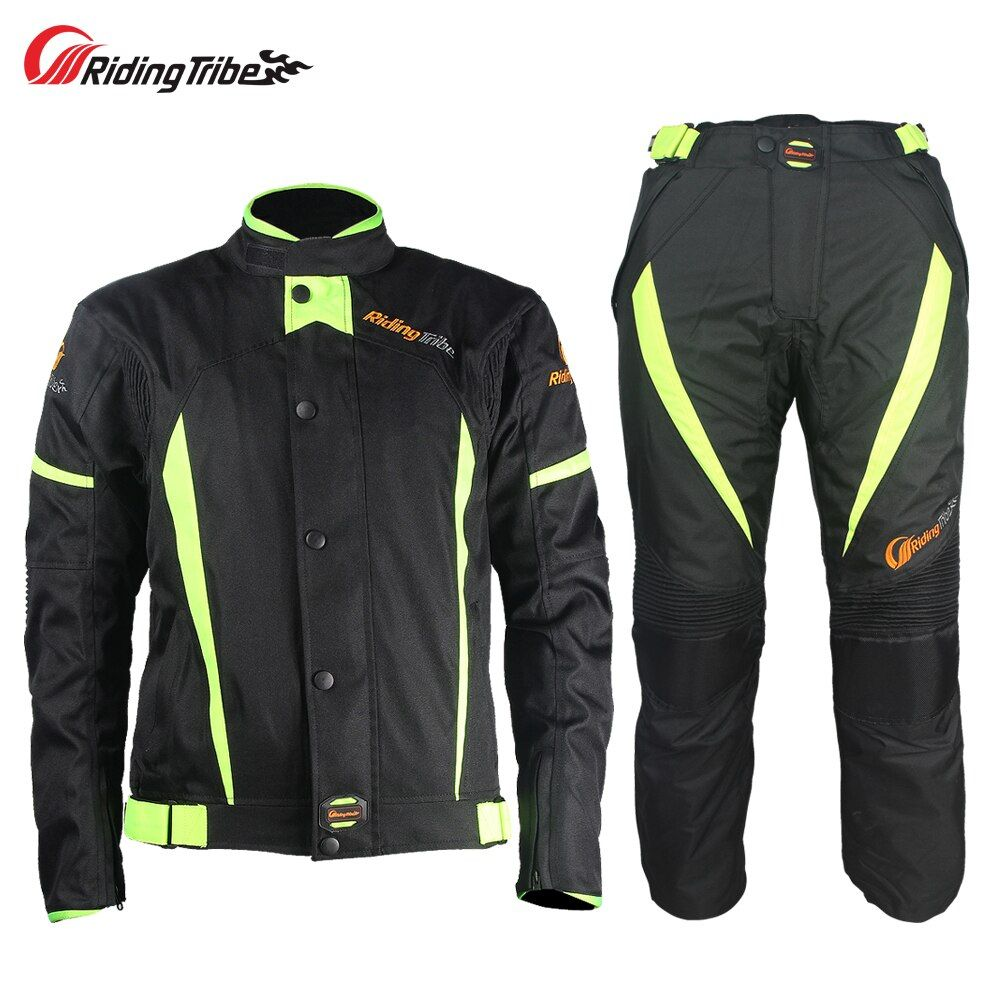 Riding Tribe Motorcycle Winter Warm Jacket Pants Suit Windproof Motocross Racing Armor Protective Motorcyclist Clothing JK-37