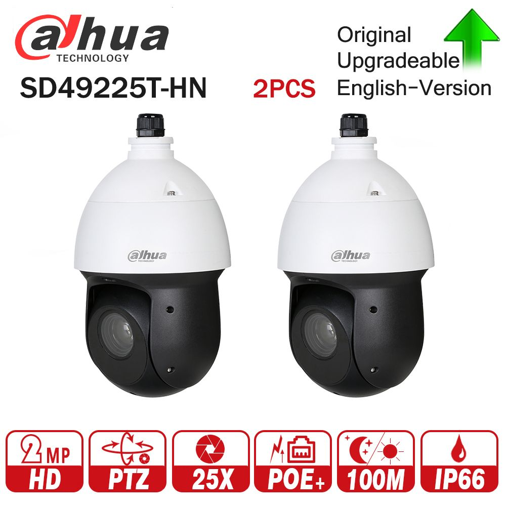 Dahua 2MP 25x Starlight IR PTZ Network IP Camera SD49225T-HN High Speed IP Dome Camera 16X Digital Zoom IP66 Waterproof 2pcs/lot