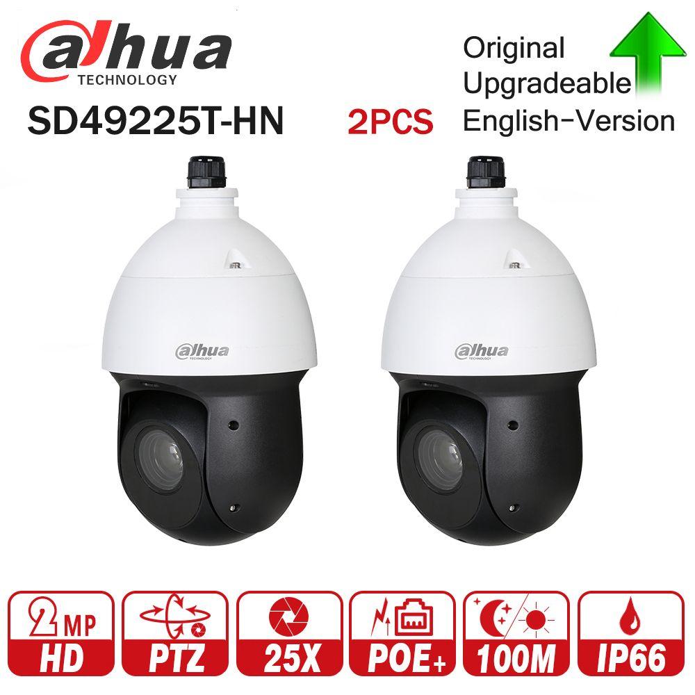 Dahua 2MP 25x Starlight IR PTZ Network IP Camera SD49225T-HN High Speed IP Dome Camera 16X Digital Zoom IP66 Waterproof 2pcs/lot