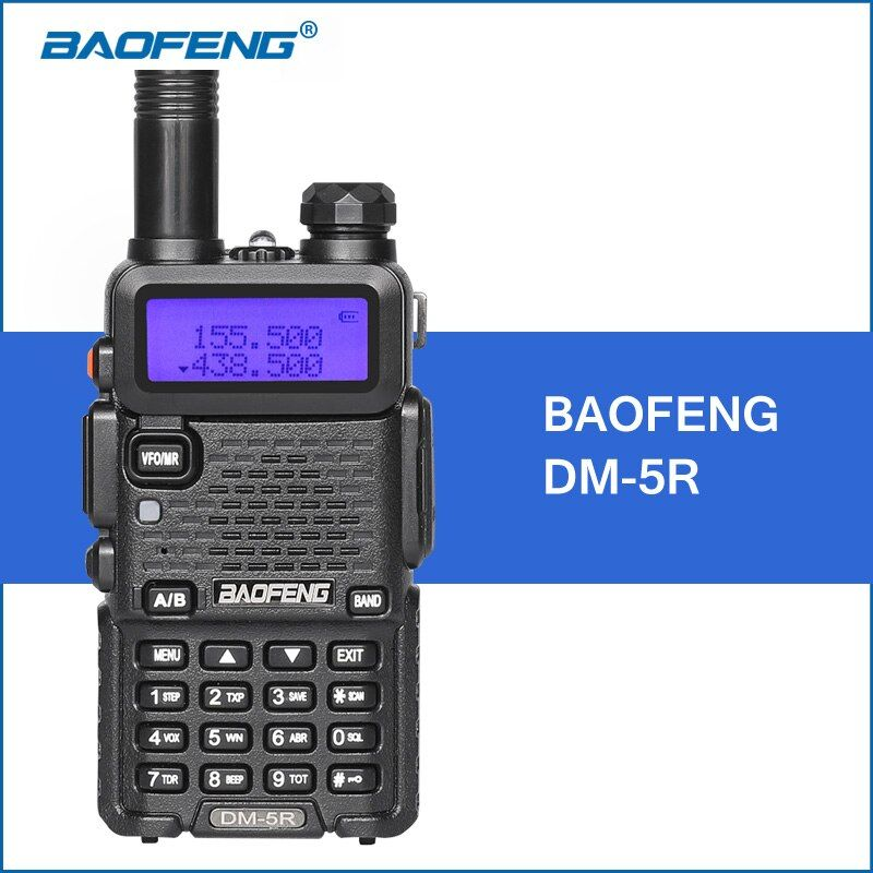 BAOFENG DM-5R Walkie Talkie DMR Digital Radio UV5R Upgraded Version VHF UHF 136-174MHZ/400-480MHZ 2000mAh Portable Walkie Talkie