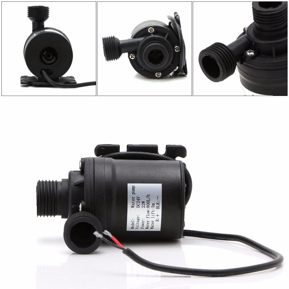 Pompes Submersibles à eau 800L/H 5 M DC 12 V/24 V pompe de Circulation d'eau de moteur sans brosse solaire