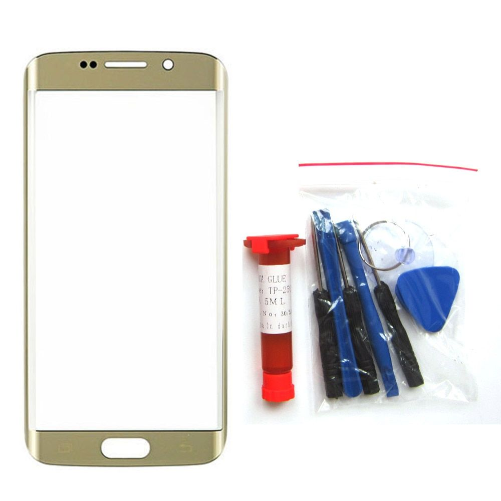Front Outer Glass Lens Replacement Part for Samsung Galaxy S7 edge G935W8 G935F/FD G9350 Touchscreen S8 + UV glue + Tools