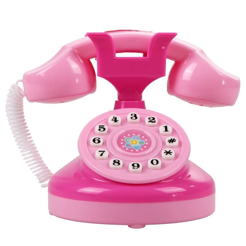 Cute Mini Simulated Flashing Toy Phone Fun Pink Lighting Phone Toy Baby Girls Educational Play House Pretend Play Toy
