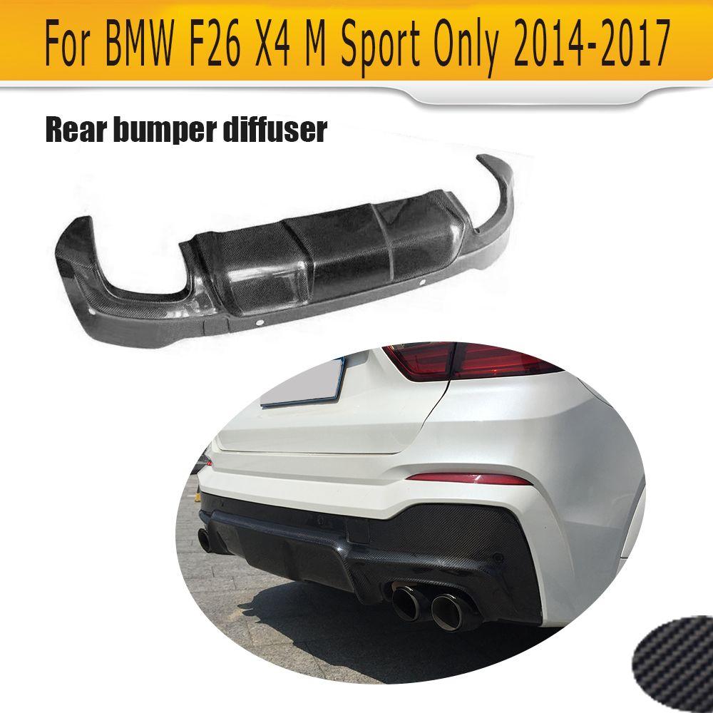 Carbon Fiber Car Racing Hinten Lip Spoiler Diffusor Für BMW X4 F26 M Sport Stoßstange 14-17 xDrive35i